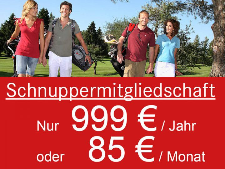 Golfclub Schnuppermitgliedschaft